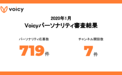 2020年1月 Voicyパーソナリティ審査結果