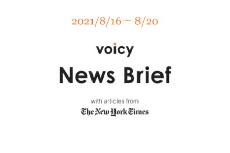 がれきを英語で言うと?Voicy News Brief with articles from The New York Times 8/16-8/20 ニュースまとめ